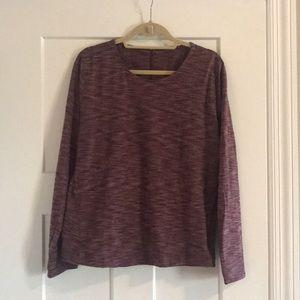 Lululemon Heathered Burgundy Pullover